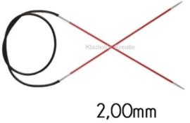 Knitpro Zing vaste rondbreinaald - 2 - 080cm