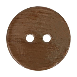Kokos knoop vintage 963- bruin 32.5 mm