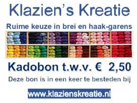 Kadobon € 2,50
