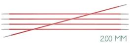 Knitpro Zing breinaalden zonder knop 2mm