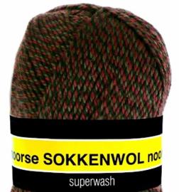 Scheepjes Noorse Sokkenwol 6864 Rood/Bruin/Zwart