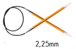 Knitpro Zing vaste rondbreinaald - 2.25 - 080cm