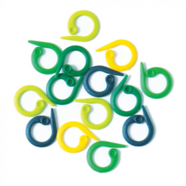 Knitpro splitring Stekenmarkeerders geel/groen/blauw