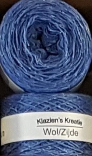 Klazien's Kreatie Wol/Zijde: 32 Blue Bell