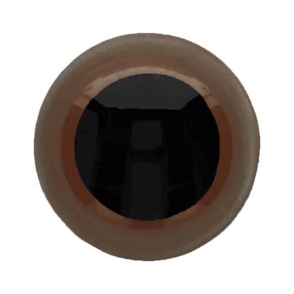 1 paar veiligheidsogen 30 mm Bruin/Zwart