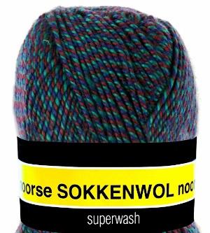 Scheepjes Noorse Sokkenwol 6863 Rood/Groen/Blauw