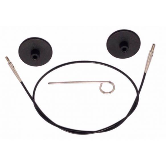 Knitpro kabel met toebehoren 40 cm zwart/zilver