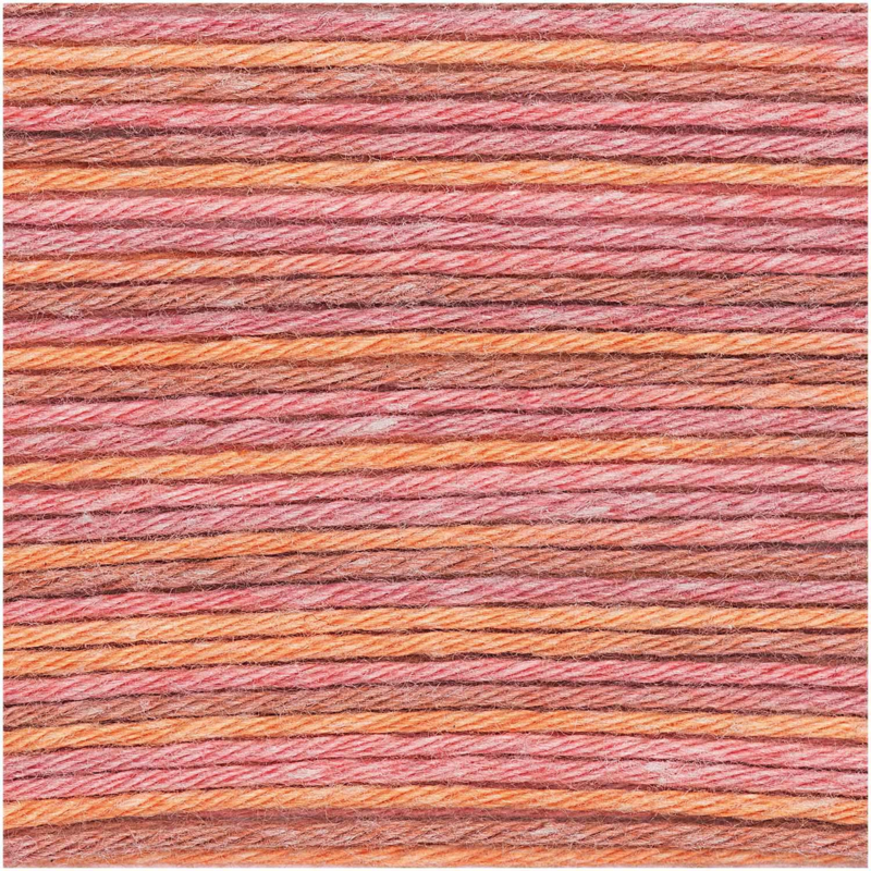 Rico baby cotton soft print 025 orange/rosa
