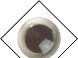 1 paar veiligheidsogen 15 mm Kristal