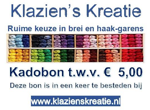 Kadobon € 5,00