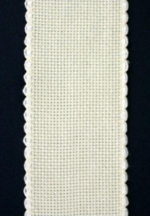 Aida borduurband gebroken wit 5cm