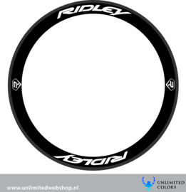 Ridley wheel  stickers 2, 8 pieces