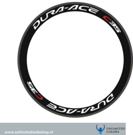 Dura-ace c-35 stickers, 4 pieces
