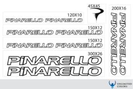 Pinarello stickers, nieuw logo outline