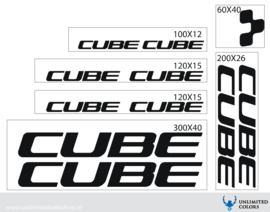 Cube stickers new font