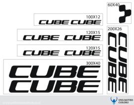 Cube stickers nieuw lettertype
