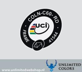 UCI sticker Colnago c60 COLN-C60-RD