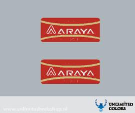 Araya AERO 1 velg sticker - 2 stuks