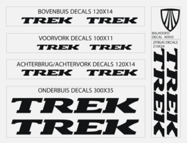 Trek stickers oud font