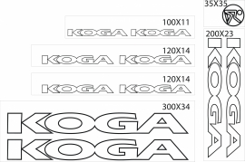Koga stickers outline
