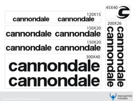 Cannondale stickers new logo