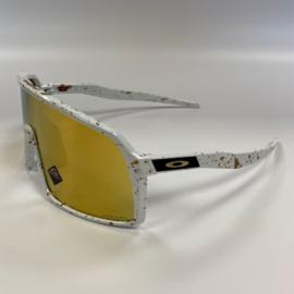 Custom Oakley Sutro - White / splash gold