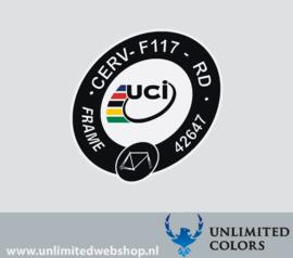 UCI sticker Cervelo R5 CERV-F117-RD