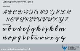 Lettertype handwritten 6