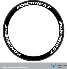 Fondriest wheel stickers 1, 6 pieces
