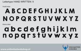 Lettertype handwritten 9