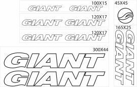 Giant stickers outline