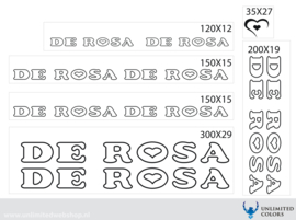 De Rosa stickers outline
