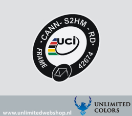 UCI sticker Cannondale synpase CANN-S2HM-RD