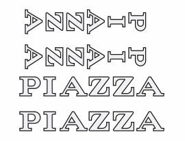 Piazza stickers outline