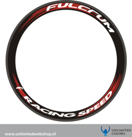 Fulcrum racing speed velg sticker, 4 stuks