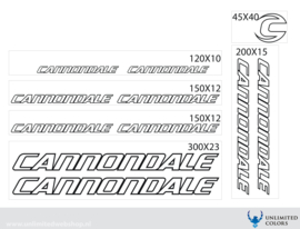 Cannondale stickers outline