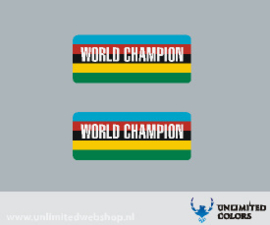 Araya World CHampion velg sticker - 2 stuks