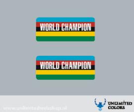 Araya World CHampion velg sticker - 2 stuks