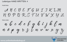 Lettertype handwritten 4