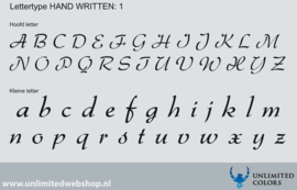 Lettertype handwritten 1