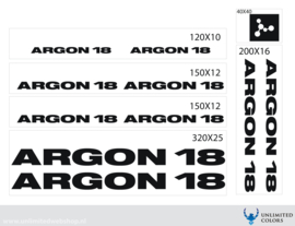 Argon 18 stickers