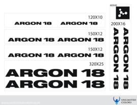 Argon 18 stickers