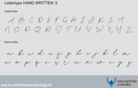 Lettertype handwritten 5