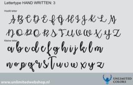 Lettertype handwritten 3