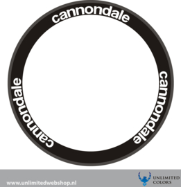 Cannondale wheel stickers new font, 6 pieces