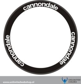 Cannondale  velg stickers nieuw logo, 6 stuks