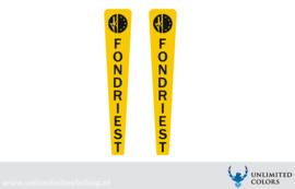 Fondriest voorvork stickers