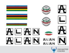 Alan stickerset