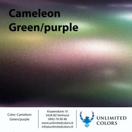 Kameleon mat groen/paars