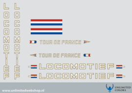 Locomotief Tour de France stickerset